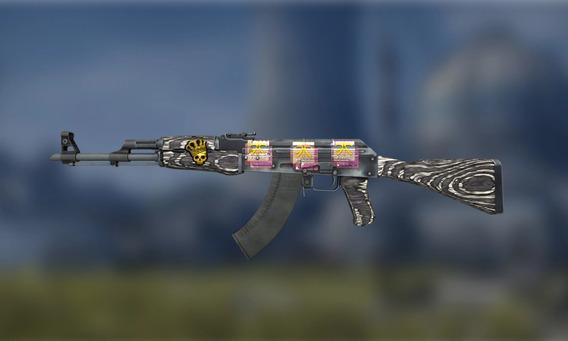 Skin Ak-47 Black Laminate (mw)float+crown+overpay+fotos