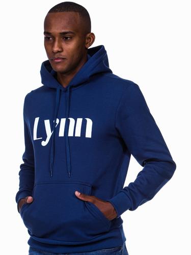 Imagem 1 de 7 de Moletom Masculino Canguru Capuz - Estampa Lynn