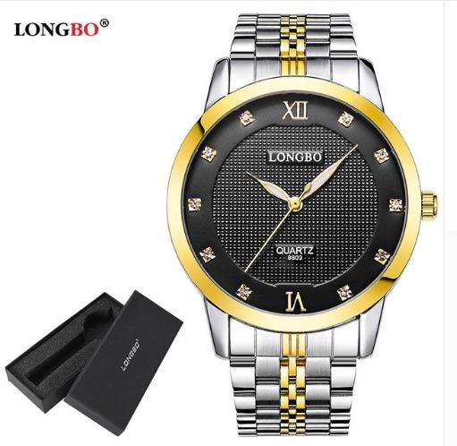 Relógio De Pulso Feminino Dourado 3 Cores Disponíveis