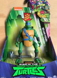 Figura Deluxe Tortugas Ninja Leonardo 15 Cm Rise Of The Tmnt