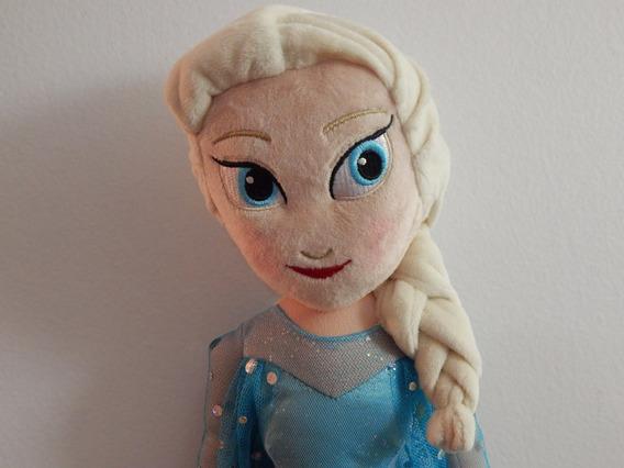 Boneca Pelúcia Elsa Frozen 50cm Disney / Original