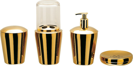 Conjunto Banheiro Hara Spa Golden 4 Peças