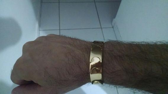 Pulseira De Ouro Maciço