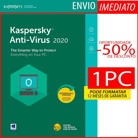 Kaspersky Anti-virus 1 Pc 1 Ano Envio Imediato Original