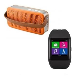 Relógio Smartwatch Sw1 Bluet + Caixa De Som Hands Bluet Usb