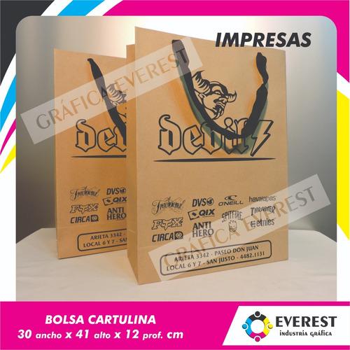 Bolsas De Cartulina 30x41x12 X 125u Impresas Offset 1 Color