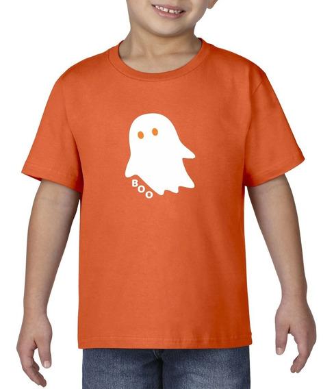 Camiseta Playera Bebe Niño Halloween Fantasma Terror Miedo
