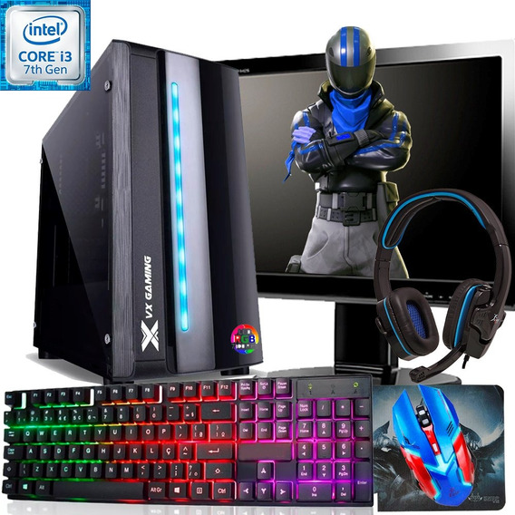 Pc Gamer Completo/ I5 / 8gb / Tela 19 / Fortinite/descontoav