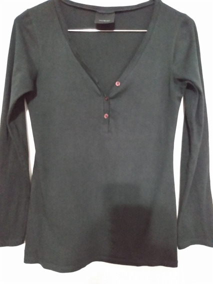 Camiseta Remera Akiabara Gris M/larga Elastizada Talle M