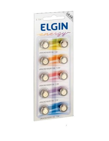40pçs Bateria Elgin Lr54 1.5v Ag10 Pilha Original Envio Imediato
