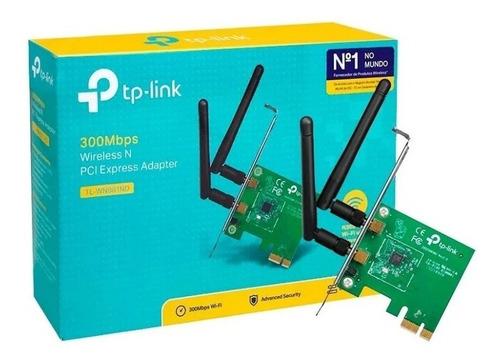 Imagen 1 de 6 de Tp-link Puerto De Red Tl-wn881nd 300n Pci-e 2 Antenas Wn881