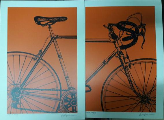 Kleber Ventura- Bicicleta /par De Gravuras- Tiragem: 24/25