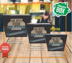Caixa Box Preta Premium Média - 100 Unidades