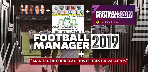 Football Manager 2019 Steam + In-game + Pack + Código Email