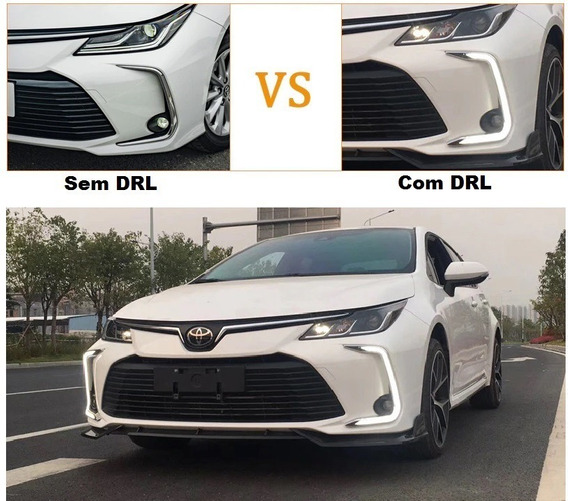 Moldura Led Drl Novo Corolla 2020 Com Seta Pronta Entrega