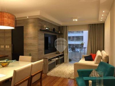 Apartamento À Venda, 85 M² Por R$ 850.000,00 - Brooklin - São Paulo/sp - Ap3456