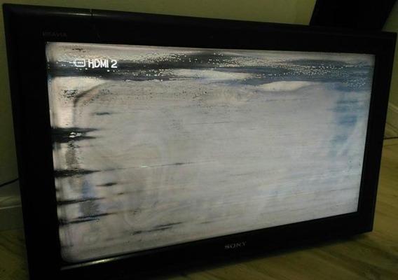Com Defeito: Tv Sony 32 Klv-32l500a Tela Quebrada - Tv Liga
