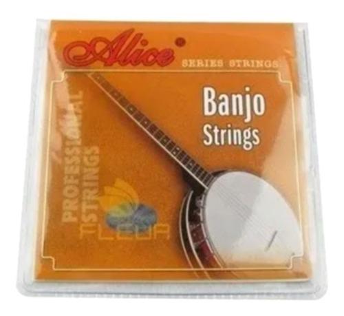 Encordoamento De Banjo Aço Inoxidável Alice 0.23 0.76
