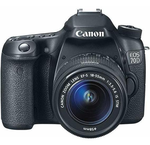 Canon Eos 70d Digital Slr Camara 18-55mm Stm Lente ®