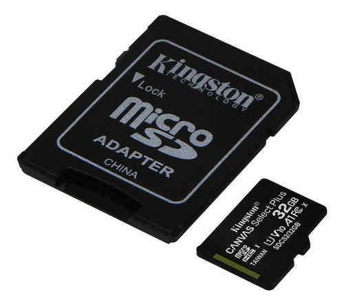 Imagen 1 de 5 de Tarjeta De Memoria Kingston Micro Sd 32gb Canvas C/adaptador