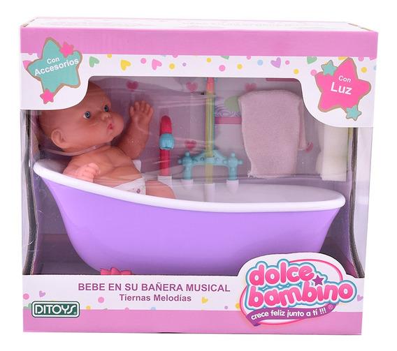 Dolce Bambino Bebé En Su Bañera Musical Ditoys