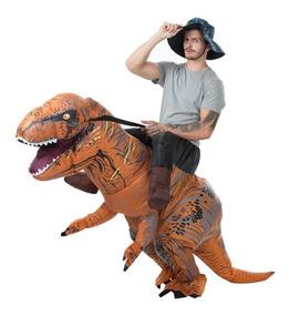 Fantasia Inflável De Dinossauro T-rex Adulto Pronta Entrega