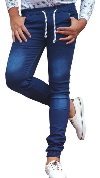Pantalon Jogger Hombre Gabardina Y Mezclilla Moda