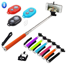 Kit 05 Pal De Selfie Atacado Videos Fotos Controle Bluetooth