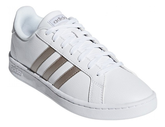 Tenis adidas Mujer Blanco Grand Court Piel Casuales F36485