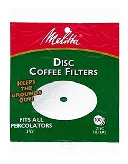 Melitta Filtros De Cafe De Disco Blanco De 3,5 Pulgadas (paq