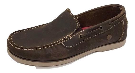 Zapato Nautico Hombre Cuero