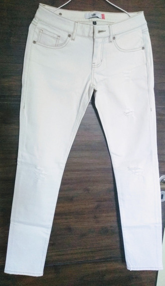 Jeans Elastizado Blanco Mujer