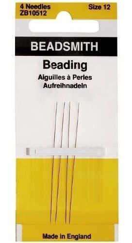 Agujas Beading Agujas De Tamaño 12, 4/pack