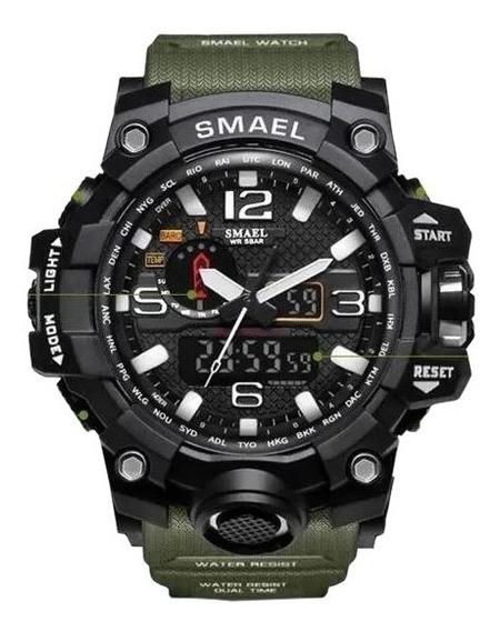 Relógio Sport Militar - Digital E Analógico - Led