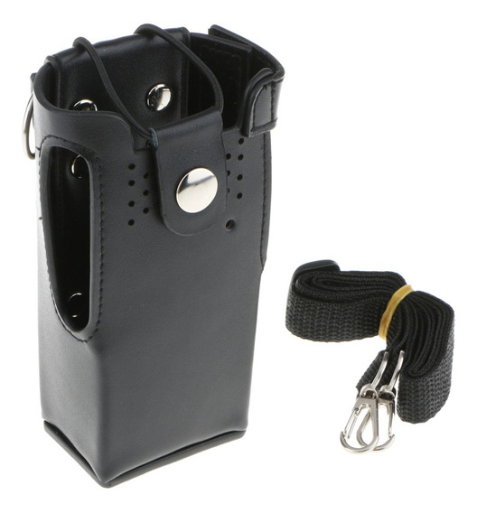Difícil Pu Capa De Couro Suporte Holster Para Motorola Gp328