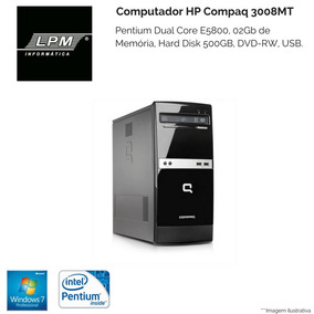 Computador Hp 300b - Dual Core E5800 - Hd500gb - 02gb Ram