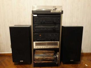 Equipo De Música Completo Con Bandeja Gira Discos 50 Wts Can