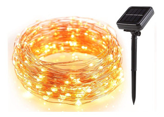 Serie De Luces Navideñas Solares 100led Decorativa 10mt