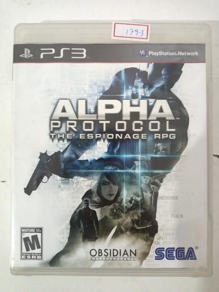 Jogo Sony Ps3 Alpha Protocol Original