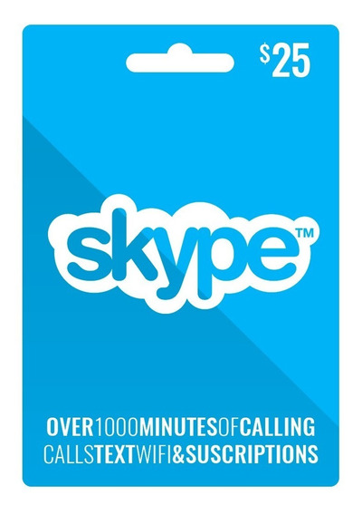Skype - Tarjeta Prepaga $25 Entrega Inmediata - Argencards