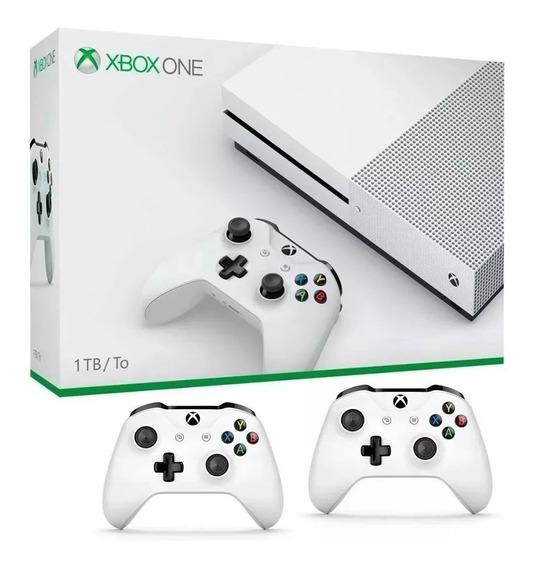 Xbox One S Slim 1 Tb C\ 2 Controles - Xone S - Pode Retirar
