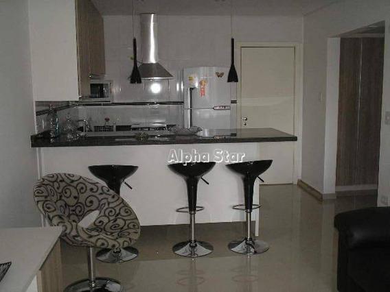 Flat Maravilhoso Com 1 Dormitório Para Alugar, 60 M² Por R$ 3.400/mês - Edifício Bouganville - Barueri/sp - Fl0025