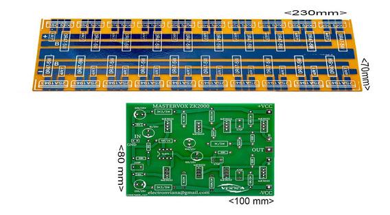 Placa Para Montar Amplificador + Régua Para 20 Transistores