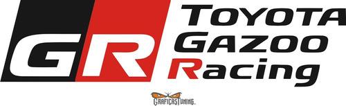 Calcomanía Toyota Gazoo Racing 20 X 6 Cm - Graficastuning