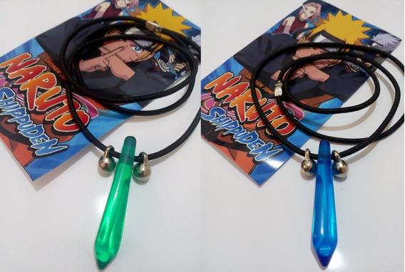 Kit Dois Colares Naruto Tsunade Verde E Azul