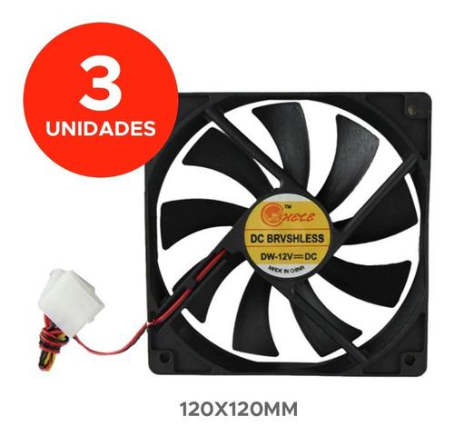 3 Fan Cooler 120x120mm 12x12cm 12v Pc C1 Ventilador