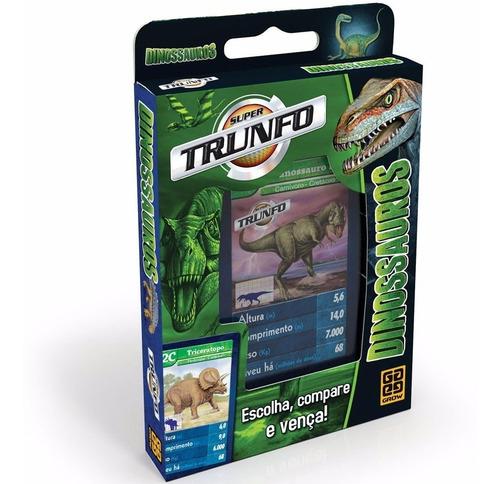 Jogo Super Trunfo Dinossauros Original Grow