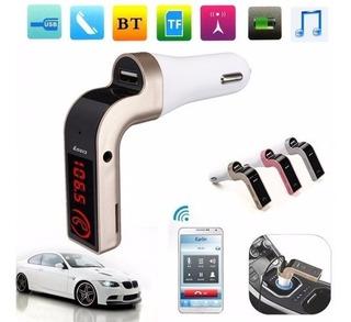 Transmisor Fm Y Musica Por Bluetooth Usb Sd Mp3 Auto Y Carga