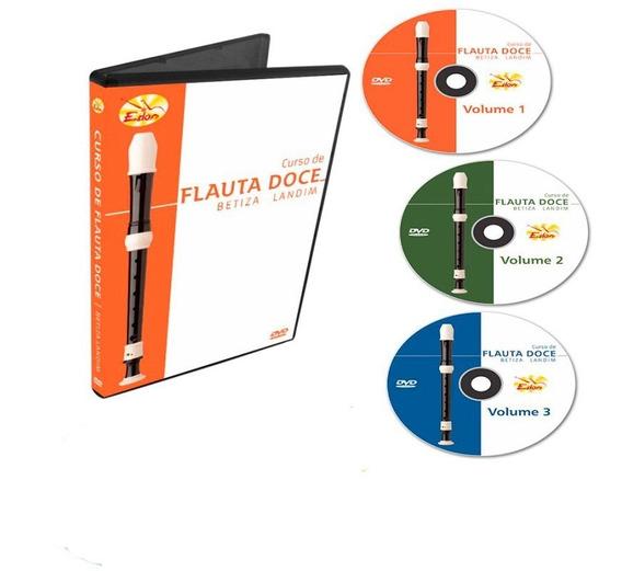 Curso Flauta Doce Para Iniciantes 3 Dvds- Edon- Original