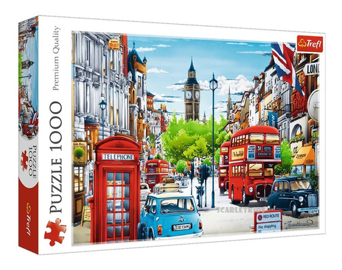 Puzzle Rompecabezas 1000 Piezas Trefl London Street Londres